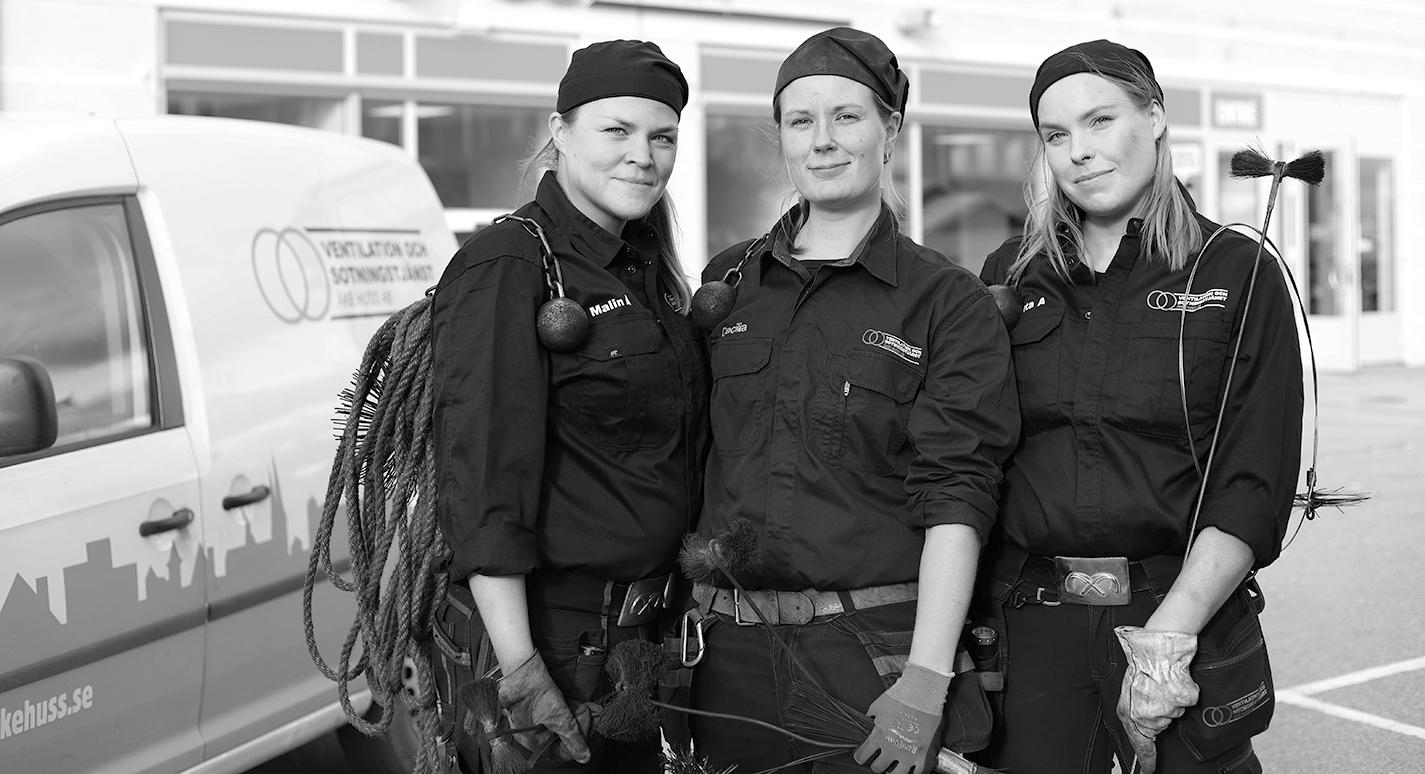 Åke Huss - Några av våra kvinnliga sotare